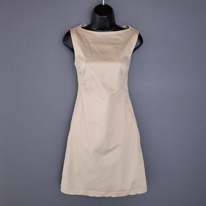 JACOB Shift Dress Boat Neck Fitted Neutral Beige